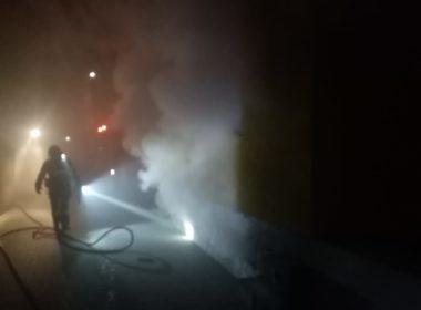 Centrala termică a unei case din Șura Mare a luat foc
