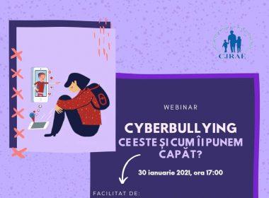 """Înscrieri la atelierul """"Cyberbullying: ce este și cum îi punem capăt"""""""