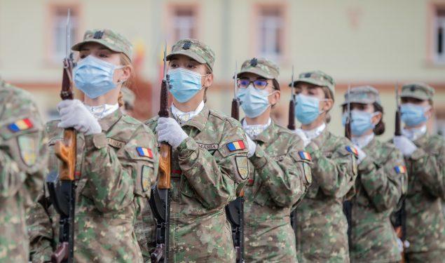Studenții AFT din anul I au depus jurământul militar de credință față de neam și țară